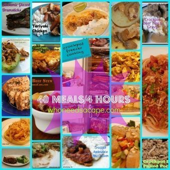 40 Meals/4 Hours Recipe Collection | Helpful Mom Stuff | Scoop.it