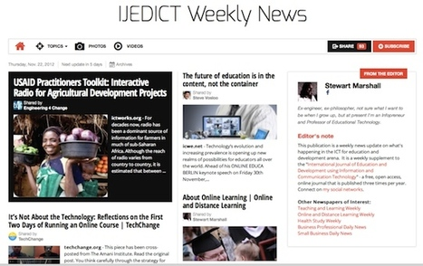 Nov 22 - IJEDICT Weekly News is out | Studying Teaching and Learning | Scoop.it
