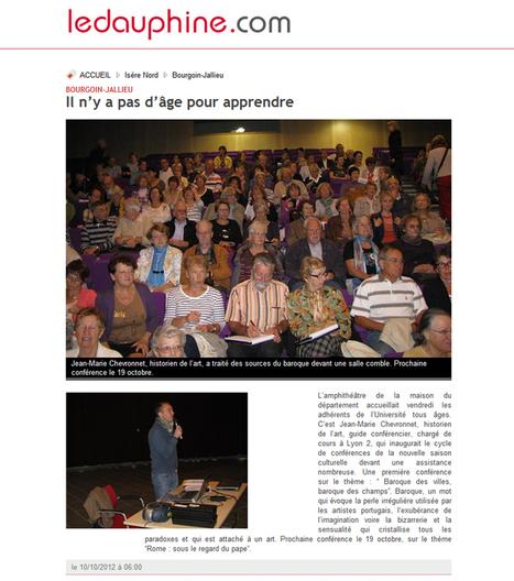 Bourgoin-Jallieu : il n'y a pas d'âge pour apprendre | octobre 2012 | Le Dauphiné Libéré | ARTIS MIRABILIS : toute la revue de presse | Scoop.it