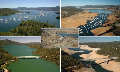 Before and after pics of CA drought show shocking extent of dry spell | The Blog's Revue by OlivierSC | Scoop.it