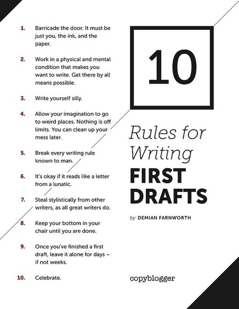 10 Rules for Writing First Drafts [Poster] | 6-Traits Resources | Scoop.it