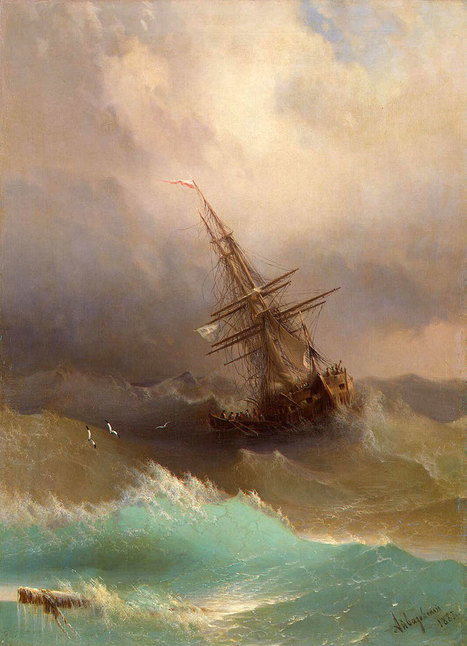 Hypnotizing Translucent Waves In 19th Century Russian Paintings Capture The Raw Power Of The Sea | Beautiful Things | Scoop.it
