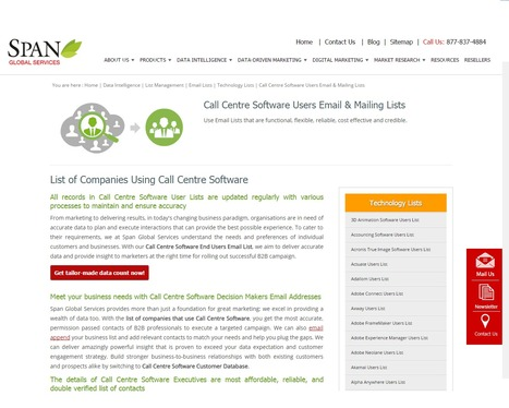 Buy Call Centre Software Users List from Span Global Services | Span Global Services | Scoop.it