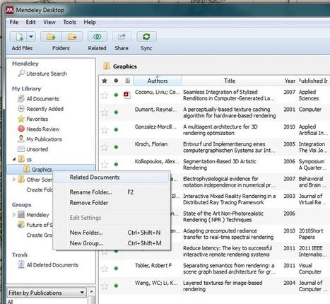 Mendeley Desktop 1.10 (nouvelle version)   François MAGNAN  Formateur Consultant   Scoop.it