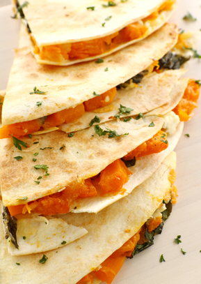 Superfood Quesadillas with Pumpkin and Kale | Best Easy Recipes | Scoop.it