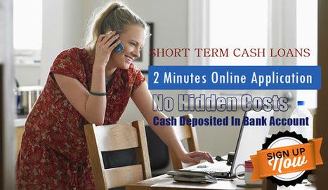 Instant Loans: Advantages Of Applying With Short Term Cash Loans Via Online Method! | Cash Loans | Scoop.it