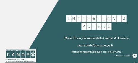 Initiation à #Zotero proposé par Marie Durin, documentaliste @canope_19 sous #scenari | Compétences clés | Scoop.it
