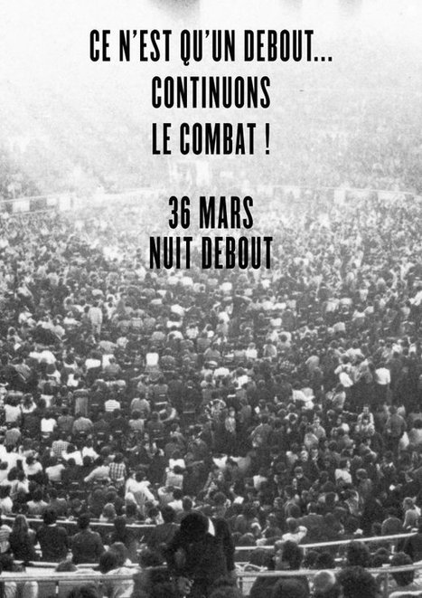 AFFICHES : Ce n'est qu'un debout, continuons le combat | International Communication 15M Indignados Occupy | Scoop.it