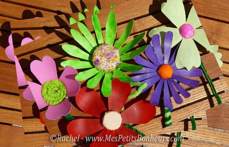 Bricolage fleurs en bouteilles plastique   Club créativité   Scoop.it