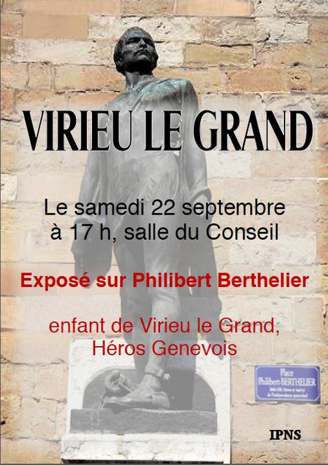 samedi 22 septembre à 17 h, salle du Conseil de Virieu le Grand, Exposé sur Philibert Berthelier | Racines de l'Art | Scoop.it
