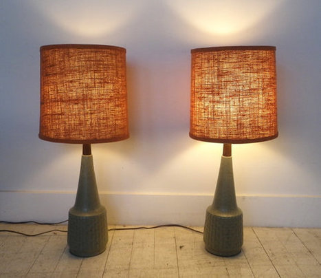 Pair of 1950s Pottery Lamps   Chummaa...therinjuppome!   Scoop.it