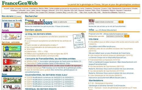 #ChallengeAZ : F comme FranceGenWeb - Le portail de la généalogie en France | Nos Racines | Scoop.it