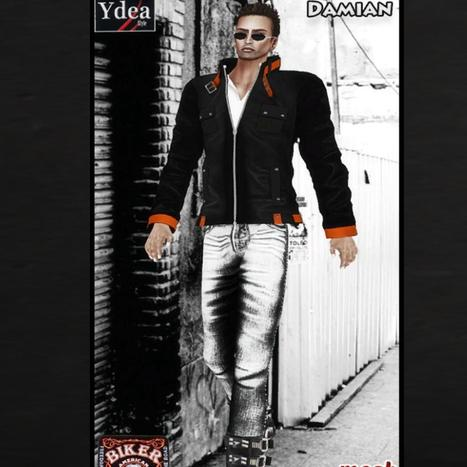 Biker Outfit Damian Group Gift by Ydea | Teleport Hub - Second Life Freebies | Second Life Male Freebies | Scoop.it