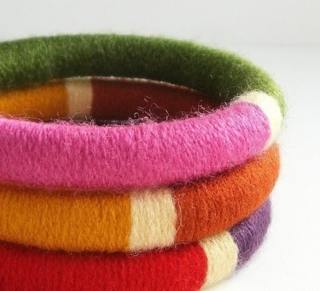 32 Awesome No-Knit DIY Yarn Projects   Handcraft - knitting, crocheting, sewing, embroidery   Scoop.it