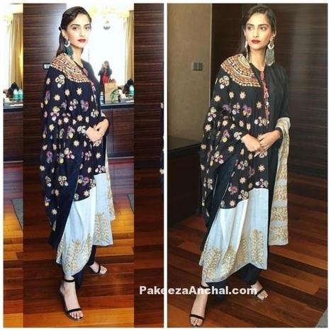 Sonam Kapoor in Black Kurti and Flared Pants at Neerja Promotion | Indian Fashion Updates | Scoop.it