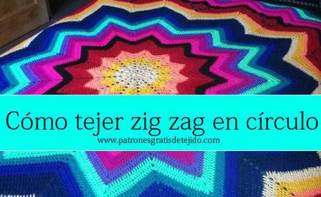 CURSO ONLINE CROCHET: Manta circular zig zag | Crochet y Dos agujas | Tejidos | Scoop.it