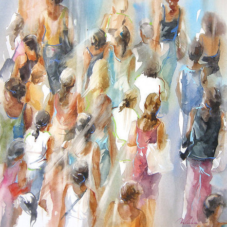 Murielle Vanhove, artiste peintre   Aquarelles en scène   Scoop.it