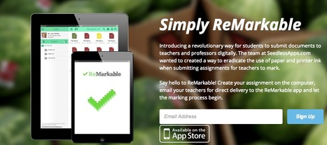 ReMarkable - An App to submit and return assignments | Intégration du iPad au préscolaire primaire | Scoop.it