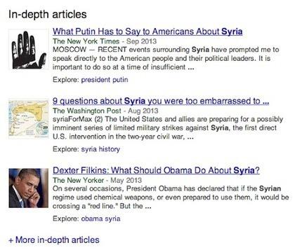 Google recule sur l'emplacement de ses In-Depth Articles | Institut de l'Inbound Marketing | Scoop.it