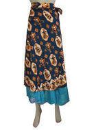 "BOHO VINTAGE SILK SARI WRAP SKIRT HIPPY GYPSY BLUE MAGIC WRAP SKIRT DRESS 36"" | women's fashion | Scoop.it"