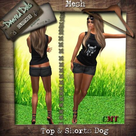 Top Dog and Shorts Group Gift by Dammed Dolls | Teleport Hub - Second Life Freebies | Second Life Freebies | Scoop.it