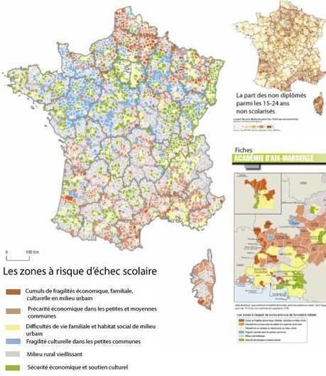 Atlas académique des risques sociaux d'échec scolaire | CANOPE | Scoop.it