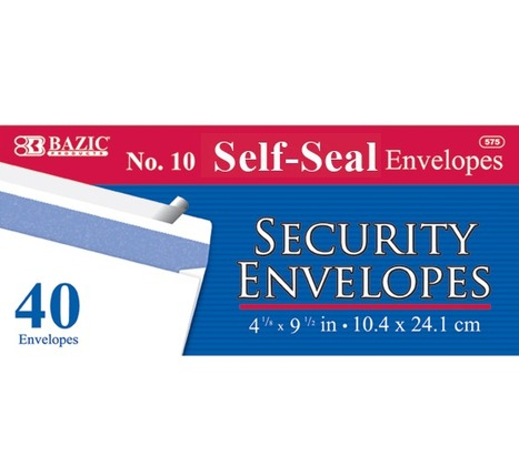 10 Self-Seal Security Envelope (40/Pack), (12/Box) | Office Supply Stores | Scoop.it