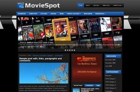 Free Blue Black Movies Wordpress Theme Template | download WordPress templates | Scoop.it
