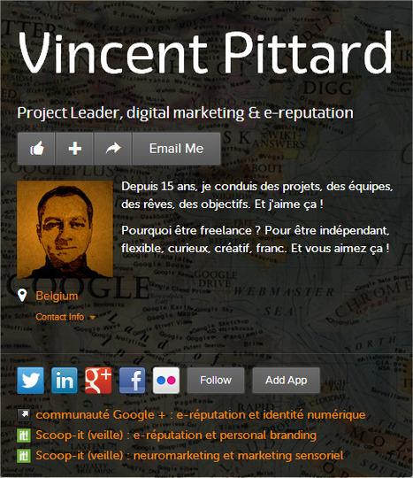 Vincent Pittard on about.me | E-réputation et identité numérique | Scoop.it