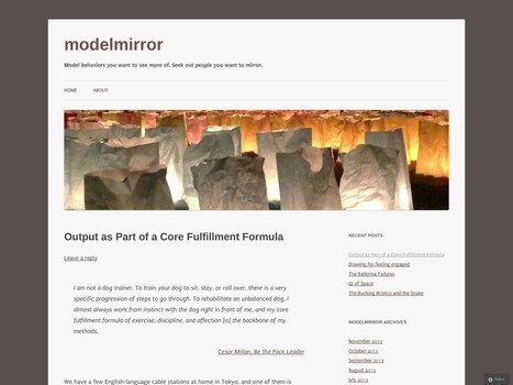 Output as Part of a Core Fulfillment Formula | Creative output and wellbeing | Scoop.it