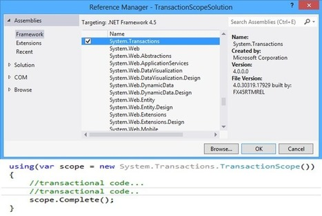 All About TransactionScope - CodeProject | C# Programming Language | Scoop.it