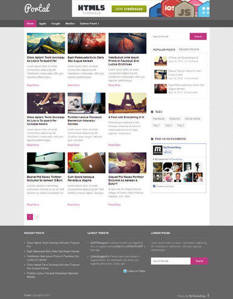 Portal, Free Responsive Magazine WordPress Theme   Free WordPress Themes VR   Scoop.it
