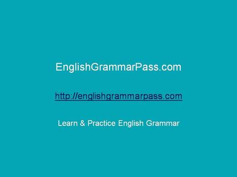 English grammar test 8: Misused forms – Miscellaneous Examples | Education | Scoop.it