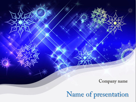 Download free White Snowflakes powerpoint template for presentation | Powerpoint Templates and Themes | Scoop.it