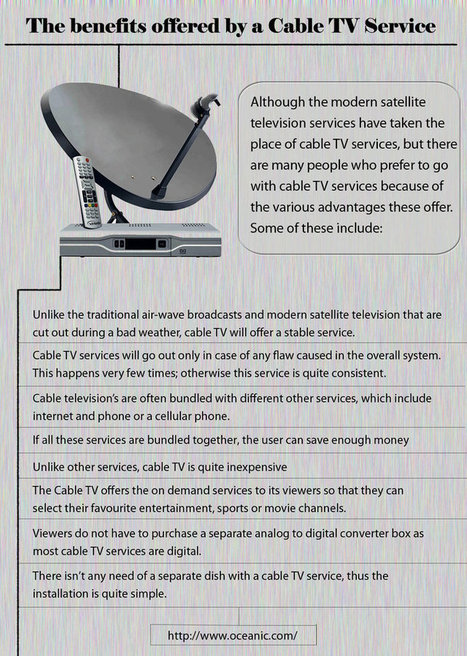 The Benefits Offered by a Cable TV Service | Oceanic | Scoop.it