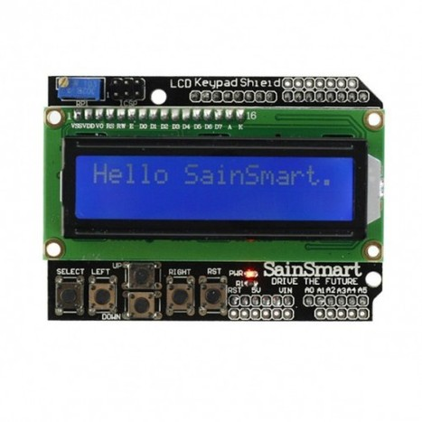 SainSmart 1602 LCD Keypad Shield for Arduino Duemilanove UNO MEGA2560 MEGA1280 Specializing in Arduino compatible development boards and modules, oscilloscopes and other electronics. | Arduino&Raspberry Pi Projects | Scoop.it