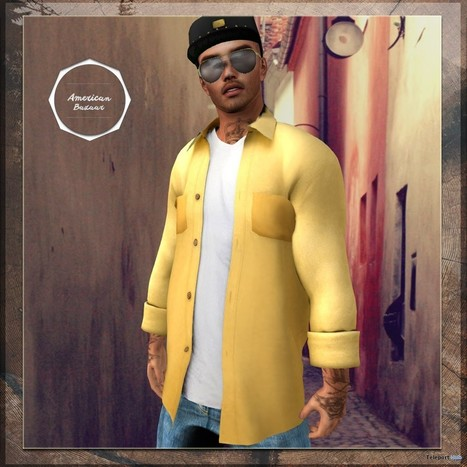 Open Shirt Gold for Men July 2015 Group Gift by AMERICAN BAZAAR | Teleport Hub - Second Life Freebies | Second Life Freebies | Scoop.it