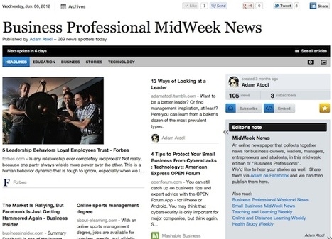 June 6 - Business Professional MidWeek News | Business Futures | Scoop.it