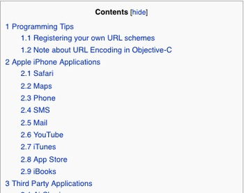 IPhone URL Schemes - akosma wiki | iPhone and iPad development | Scoop.it