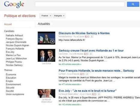 Elections Présidentielles françaises : Google lance un portail dédié | Google actu | Scoop.it