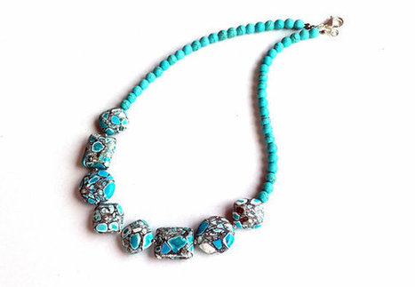 Turquoise Necklace - Jewelery -  Gemstone  - Accessory Jewelry- Christmas Gift-  Blue- Women Jewelry | My Jewelrys | Scoop.it
