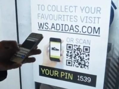 Adidas teste une vitrine entièrement interactive | QRiousCODE | Scoop.it