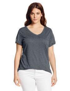 Derek Heart Juniors Plus-Size One-Pocket V-Neck T-Shirt | btklwl | Scoop.it