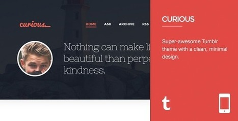 Curious – Responsive Tumblr Theme Download | Tumblr Templates Download | Scoop.it