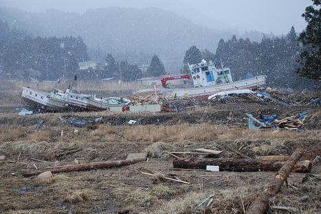[Photo] La neige tombe sur les dommages du tsunami à Yamada | Flickr - Photo Sharing! | Japon : séisme, tsunami & conséquences | Scoop.it