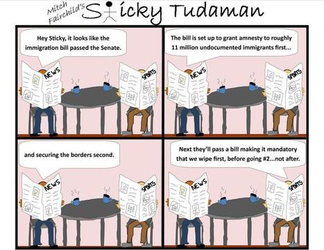 Sticky Tudaman: Immigration Reform 2 | Political Humor | Scoop.it