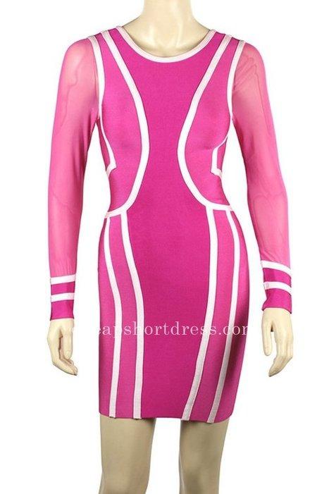 Long Sleeve Herve Leger Pink Knee Length Bandage Dresses [Herve Leger Short Dresses] - $155.00 : Short dresses | Homecoming Dresses | Short Bridesmaid Dresses | Cocktail Dresses | Prom & Homecoming Dresses | Scoop.it