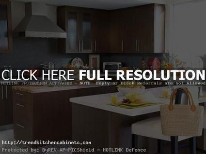 Colored Kitchen With Brown Cabinets | Home Designs an Decorating Ideas | Scoop.it