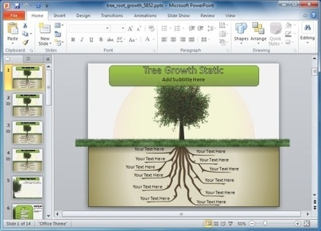 Animated Tree With Roots PowerPoint Template | PowerPoint Presentation | handsome | Scoop.it