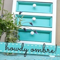 Aqua Ombre Painted Furniture Makeover - Fox Hollow Cottage | Cottage Furniture | Scoop.it